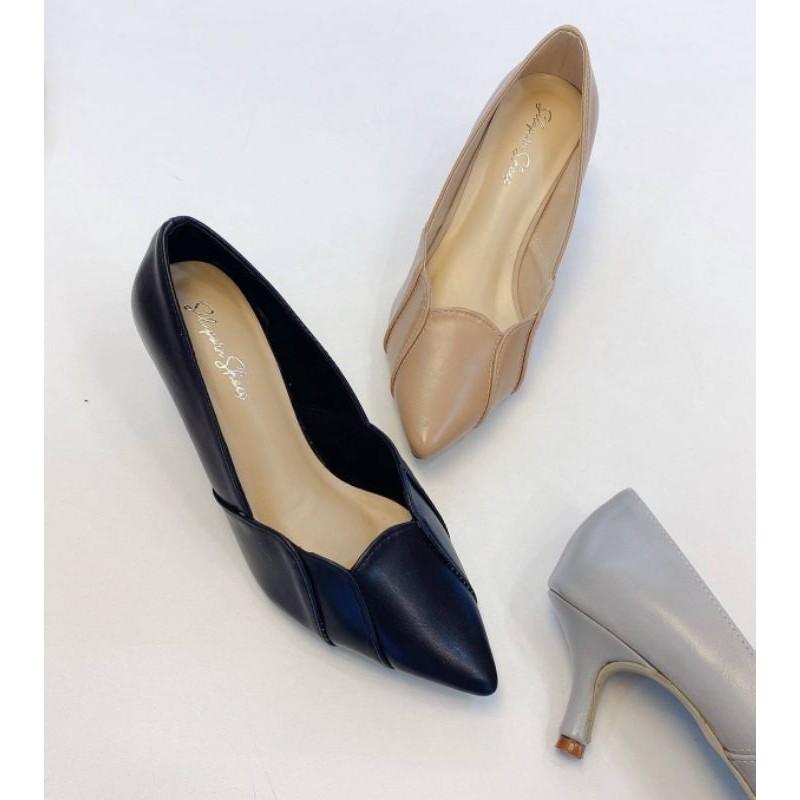 👠09019💗รองเท้าคัชชู รองเท้าส้นสูง หนังนิ่ม ส้น 2 นิ้ว
