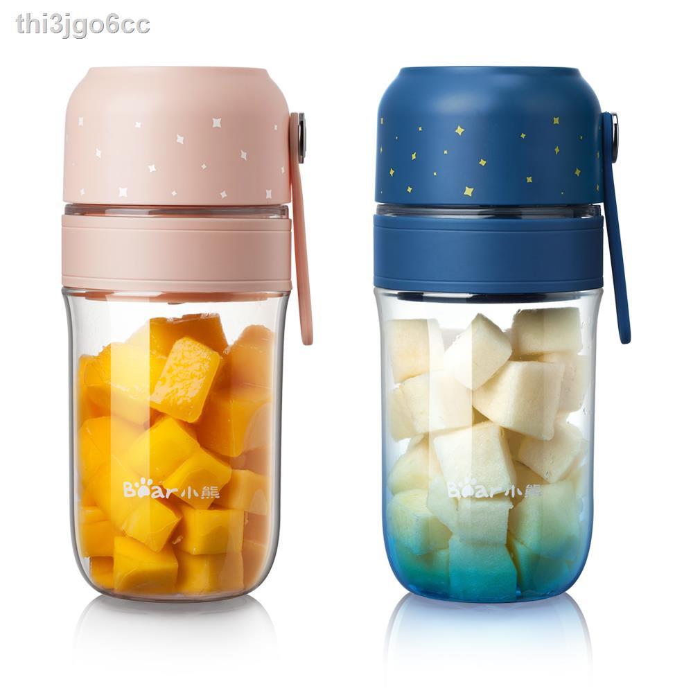 ถ้วยกาแฟ  ₪Bear Juice Cup ผลไม้ในครัวเรือนเครื่องคั้นน้ำผลไม้แบบพกพาขนาดเล็ก Electric Mini Frying Juicer เครื่องทำอาหาร