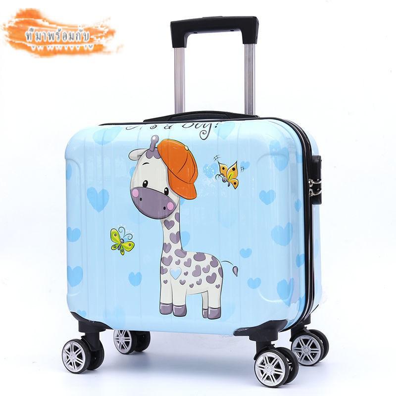 กระเป๋าเดินทางสำหรับเด็ก กระเป๋าเดินทางล้อลาก องศา นิ้วกระเป๋าเดินทางขนาดเล็กนักเรียนหญิงเวอร์ชั่นเกาหลีของแนวโน้มของlockboxรถเข็นกระเป๋าเดินทางล้อตัวถังคณะกรรมการ14-นิ้ว18