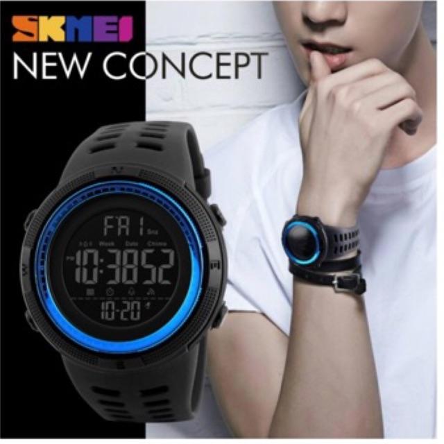 SKMEI นาฬิกาข้อมือผู้ชายดิจิตอล ของแท้ 100% พร้อมกล่องและใบครบเซ็ต รุ่น SK-1251 สไตล์สปอร์ต