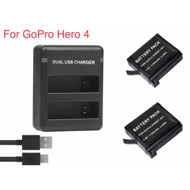 Batería 1160mah para go pro GoPro HD Hero 4 Black Silver Edition Music surf