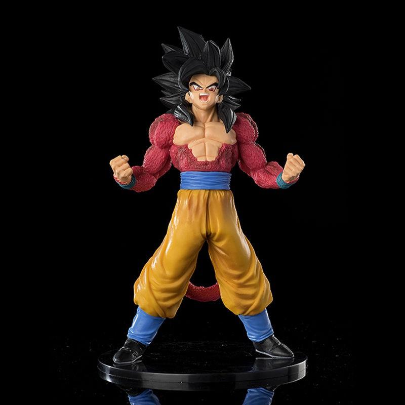 DRAGON BALL ฟิกเกอร์ Dragon Ball Saiyan Blood Super 4 Goku ของเล่นสําหรับเด็ก