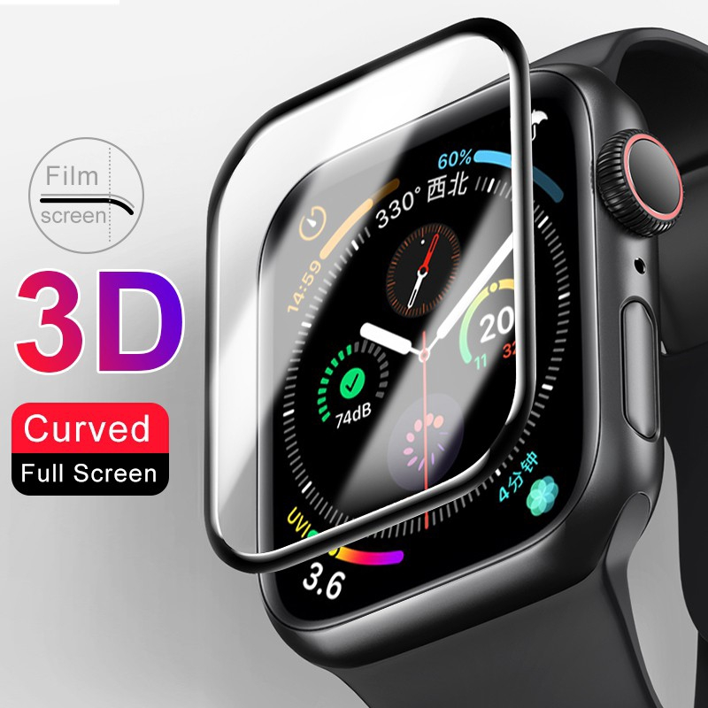 3 d ฟิล์มกระจกกันรอยสําหรับ apple watch series 5 40 44 มม.