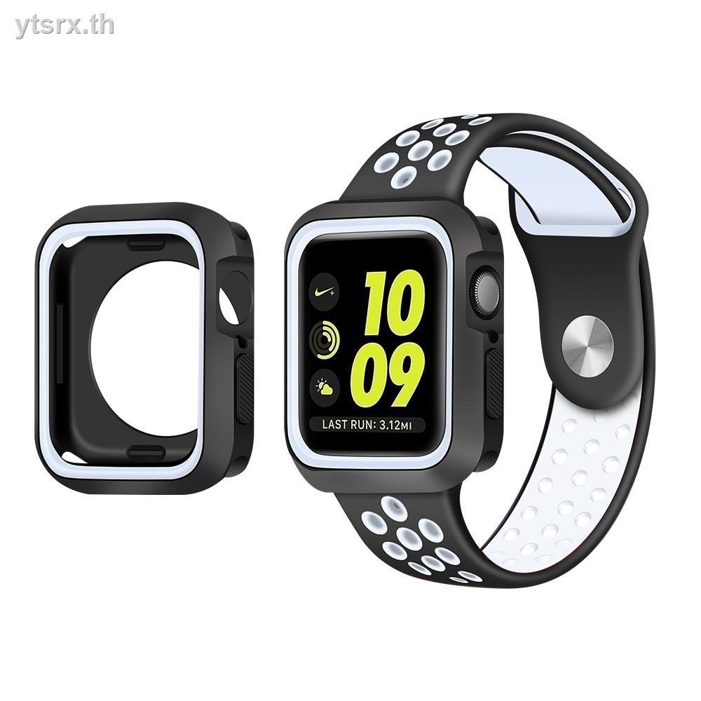 เคสAirPods1/2 Case Airpods caseFashion tpu caseSuitable for applewatch5/6 protective case iwatch Apple Watch SE two-color silicone creative 40mm44 personality trend 4 cover 3 generation 2 anti-fall 42series S6 38 accessories 1