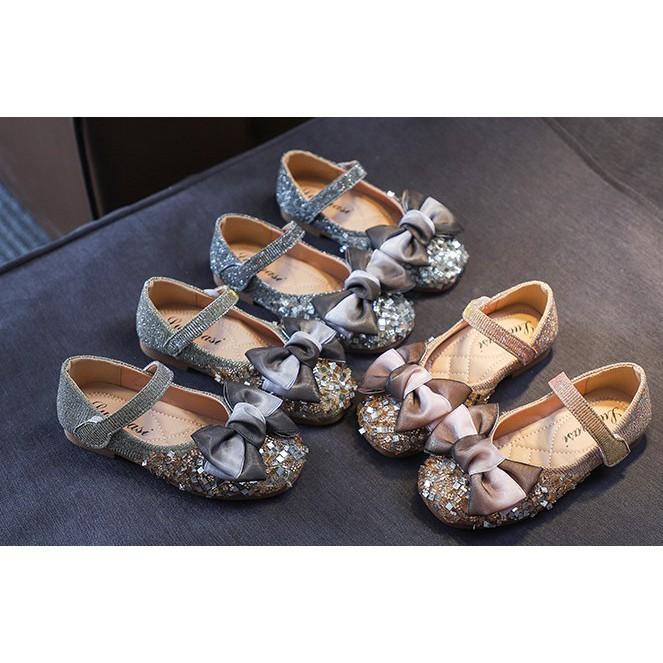 รองเท้าเด็กหญิง/ 8656-2020 **พร้อมส่ง** รองเท้าคัชชูเด็กผู้หญิง ประดับโบว์ด้านหน้า รองเท้าใส่ออกงาน ไซต์ 21-36 (อายุ1.5-