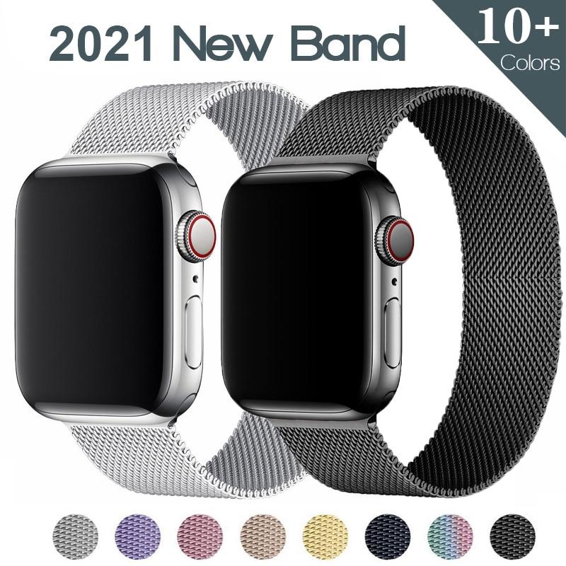 Milanese loop For Apple watch band 44mm 40mm 38mm 42mm Stainless steel Metal belt correa bracelet iWatch series 5 4 3 se