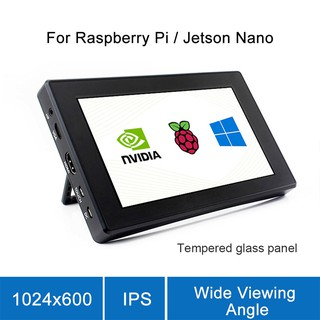 7 Inch HDMI LCD with Case 1024x600 Resolution Monitor Touch Screen With Case For Raspberry Pi 4B/3B+