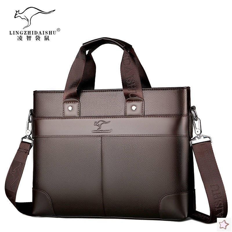 Coach & Bag & กระเป๋าผ้าหนังกระเป๋าใส่แล็ปท็อปสําหรับผู้ชาย