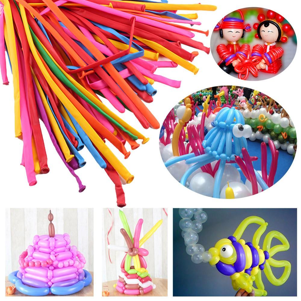 100Pcs Party Long Animal Tying Making Balloons Twist Latex Balloon DIY Décor AT