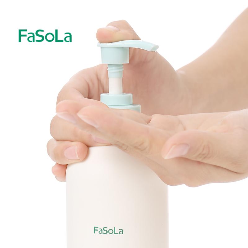 ▲FaSoLaผงซักฟอกครอบครัวแพ็คบ้านห้องครัวเมล็ดชามิ้นท์น้ำยาล้างจานกดผลไม้และผักขวดสารทำความสะอาด■