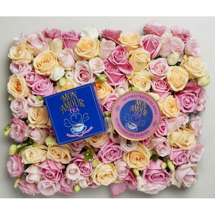 🌈☕ ชา TWG Tea Mon Amour ขนาด 100 กรัม บรรจุกระป๋องชาทรงคาเวียร์สีน้ำเงินสุดหรู
