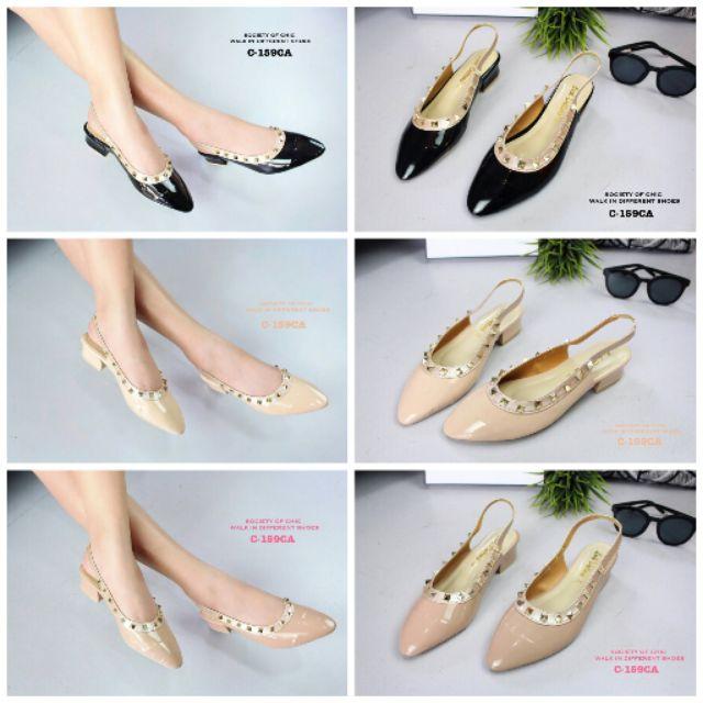#รองเท้า Valentino#รองเท้ารัดส้น#รองเท้าคัชชูรัดส้น