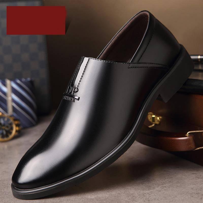 รองเท้าชาย รองเท้าคัชชูผู้ชาย 2020 ฤดูใบไม้ผลิรองเท้าหนังผู้ชายธุรกิจสวมใส่อย่างเป็นทางการรอบหัวเยาวชนสีดำชุดฟุตผู้ชายรอ