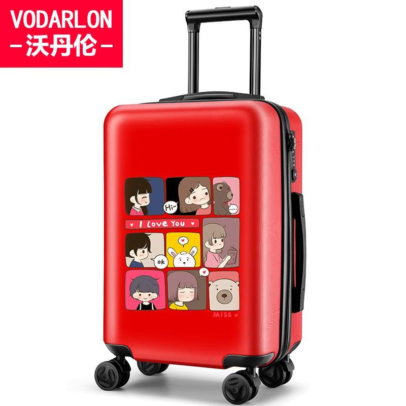 ⅸ﹤ กระเป๋าเดินทางพกพา  กระเป๋ารถเข็นเดินทางกระเป๋าเดินทางเด็ก กระเป๋าเดินทางหญิงเด็กเล็กรถเข็นกระเป๋าเดินทาง 20 นิ้วน้ำห