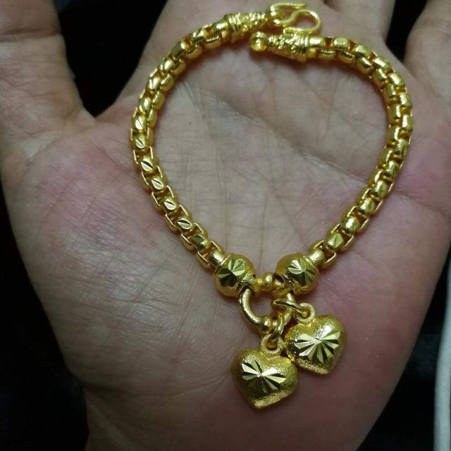 สร้อยข้อมือหนัก2บาทราคา490บาทงานทำมาจากเศษทอง