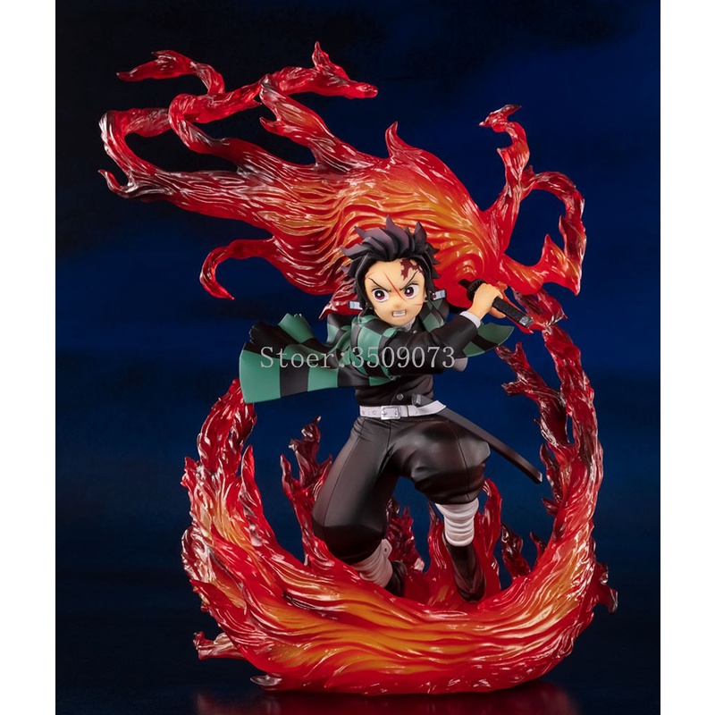 ✓◆Demon Slayer Anime Figure Kamado Tanjirou Hinokami Kagura Action Figure Kimetsu no Yaiba Figuarts ZERO Figurine Model