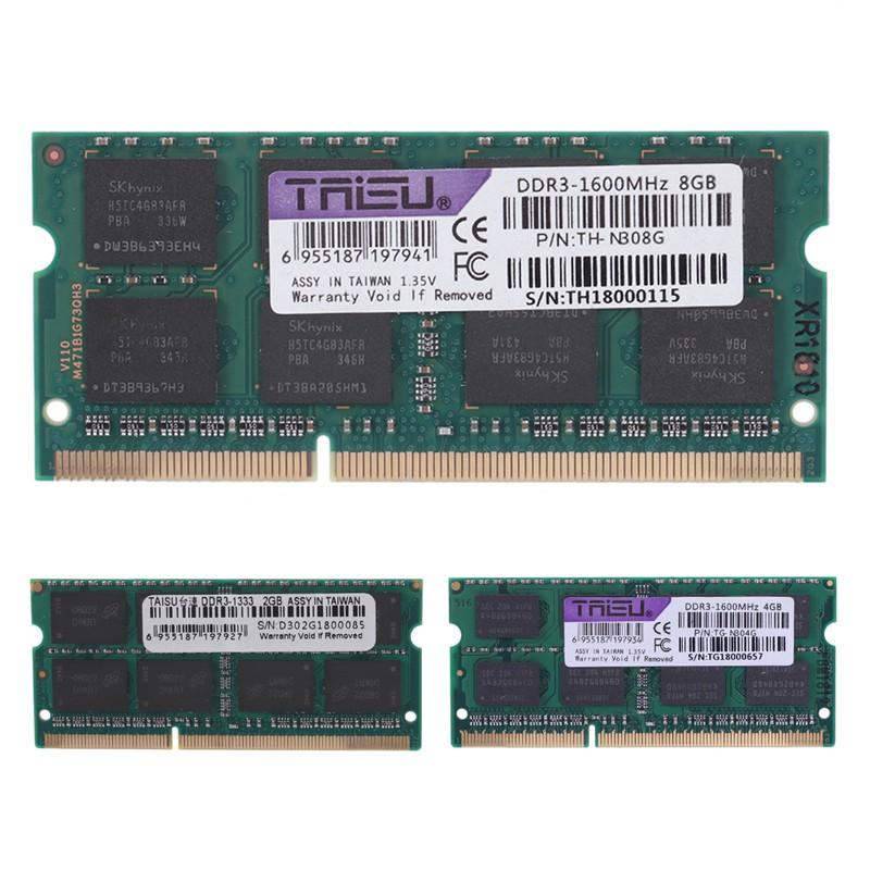 Taisu DDR3L 2 GB 1600 / 1333 MHz 1 35 V Laptop SODIMM RAM Notebook Memory XD