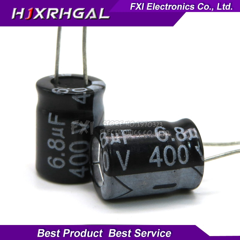 10PCS  400V6.8UF  10*13 6.8UF 400V 10*13MM Electrolytic capacitor New original