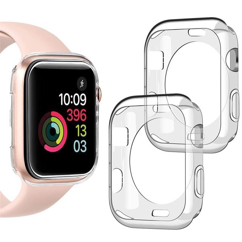 Apple Watch Case for iwatch Series 6 se 5 4 3 2 Soft TPU All-Around Clear Cover Protective Case 38mm 42mm 40mm 44mm
