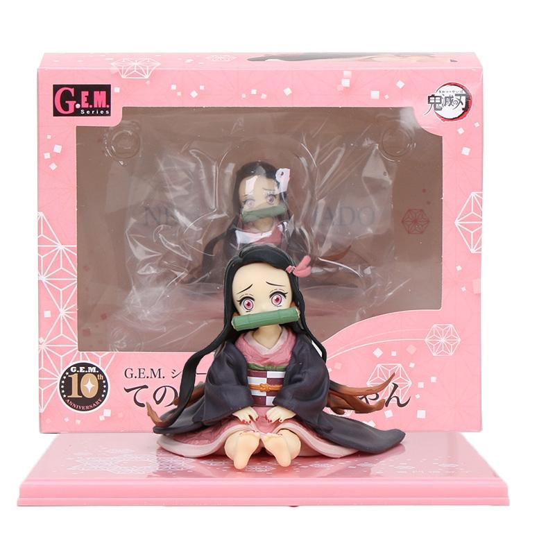 Demon Slayer Kimetsu no Yaiba Nezuko Figure Model Toy Anime Demon Slayer Figure Nezuko Cute Toys 65mm G05s