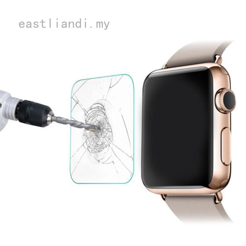 Eastliadi ฟิล์มกระจกนิรภัยกันรอย 1 ชิ้นสําหรับ Apple Watch 38 มม. 42 มม.