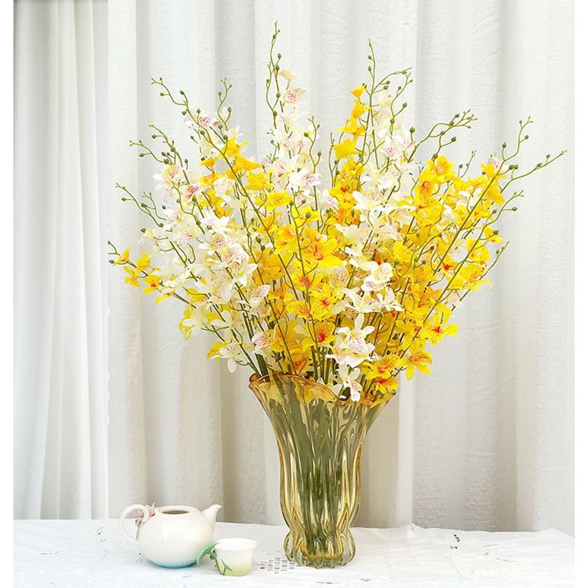 ◕Hejia dendrobium ดอกไม้จำลอง ดอกซากุระ ดอกไม้ปลอม ดอกไม้ผ้าไหมขนาดเล็ก แคทลียาเต้นรำ กล้วยไม้ผีเสื้อ กล้วยไม้ตกแต่งบ้าน