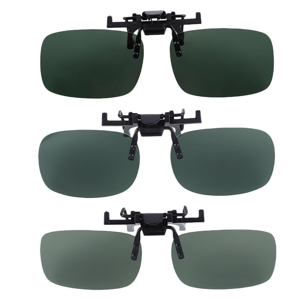 Polarised Flip Up Clip-on Sunglasses Eyewear Outdoor Fishing Driving Glasses