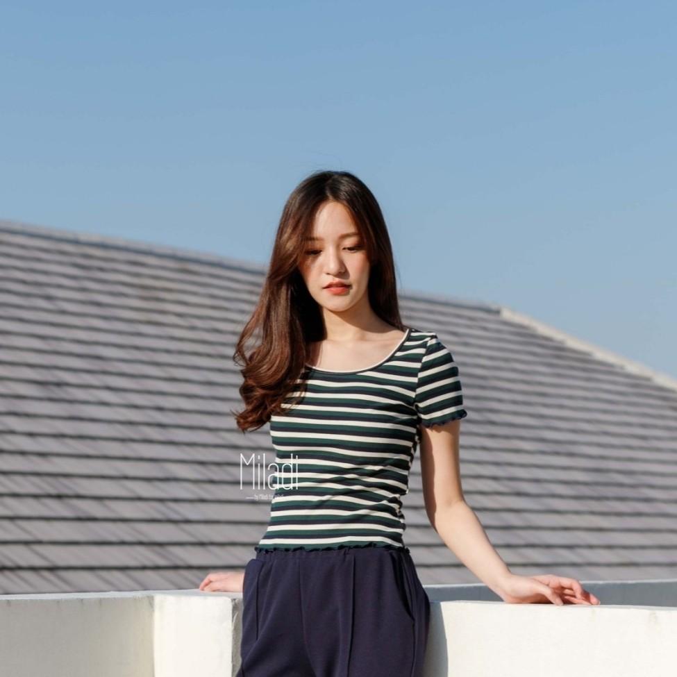 Kimber Top (All Color) เสื้อครอป ผ้ายืด เสื้อแขนสั้นผู้หญิง