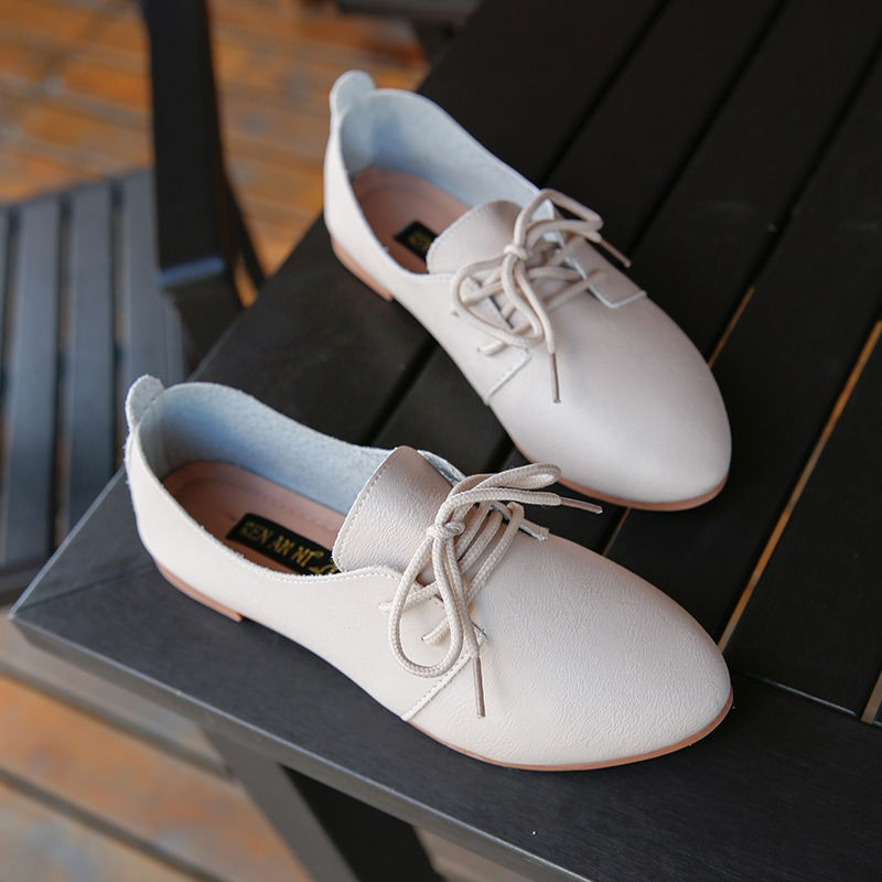 รองเท้าคัชชูผู้หญิง🍎รองเท้าคัชชู หัวแหลม🍎องเท้าลำลอง รองเท้า แฟชั่น รองเท้าลำลอง รองเท้าส้นแบน สไตล์อังกฤษ