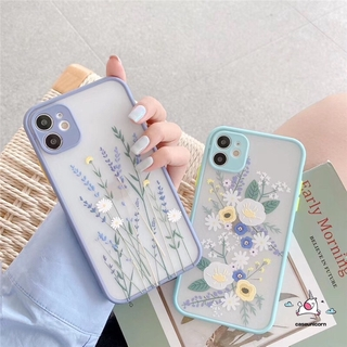 Review Casing Soft Case iPhone 11 iPhone 7plus 8plus 11Pro Max iPhone 8 7 Plus 6 6s Plus X Xs Max XR SE Flower Lavender Camera Lens Protector Phone Cover
