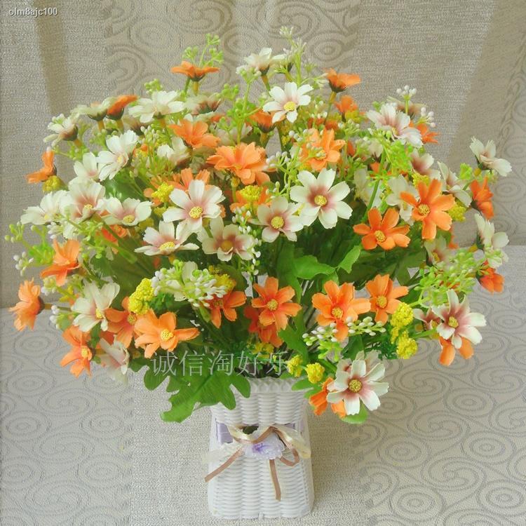 การจำลองพันธุ์ไม้อวบน้ำ﹊ดอกไม้ปลอม กระถางตกแต่งห้องนั่งเล่น ชวนชมบนโต๊ะในตู้เย็น ดอกไม้พลาสติก ตกแต่งภายใน ช่อดอกไม้จำลอ
