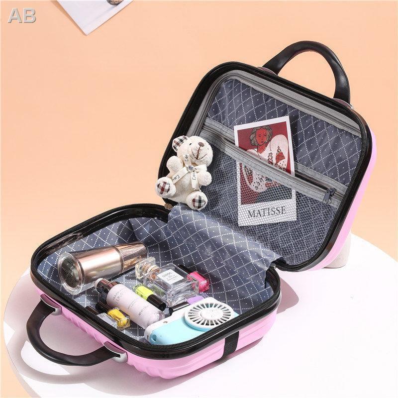 กระเป๋าเดินทางเกาหลี, กระเป๋าเดินทางขนาดเล็ก, กระเป๋าเครื่องสำอางผู้หญิง 14 นิ้ว, กระเป๋าเดินทาง 16 ใบ, ขนาดเล็กน้ำหนัก