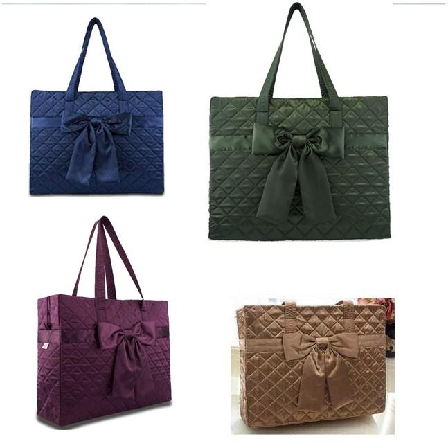 กระเป๋าผ้า กระเป๋าเดินทาง ใบเล็ก สไตล์ นารายา Naraya Style กระเป๋าสะพาย ใบใหญ่ สีดำ น้ำเงิน น้ำตาล ม่วง
