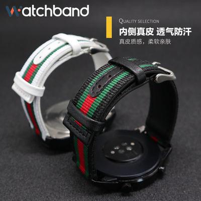 ☁☨Applewatch แฟชั่นผ้าใบไนลอนสายนาฬิกาแอปเปิ้ล iWatch s/ 6/5/4/3/2รุ่น Series 38/42 MM4อุปกรณ์เสริมสายรัดข้อมือหนังแท้0/
