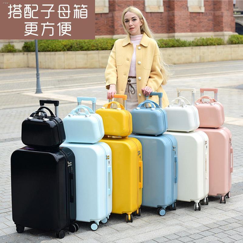 ♕กระเป๋าใส่รถเข็นดาราดังในกระเป๋านักเรียนสดขนาดเล็กกระเป๋าเดินทางหญิงน่ารักกระเป๋าเดินทาง 20 นิ้ว 22 ใบ 24 สีลูกกวาด