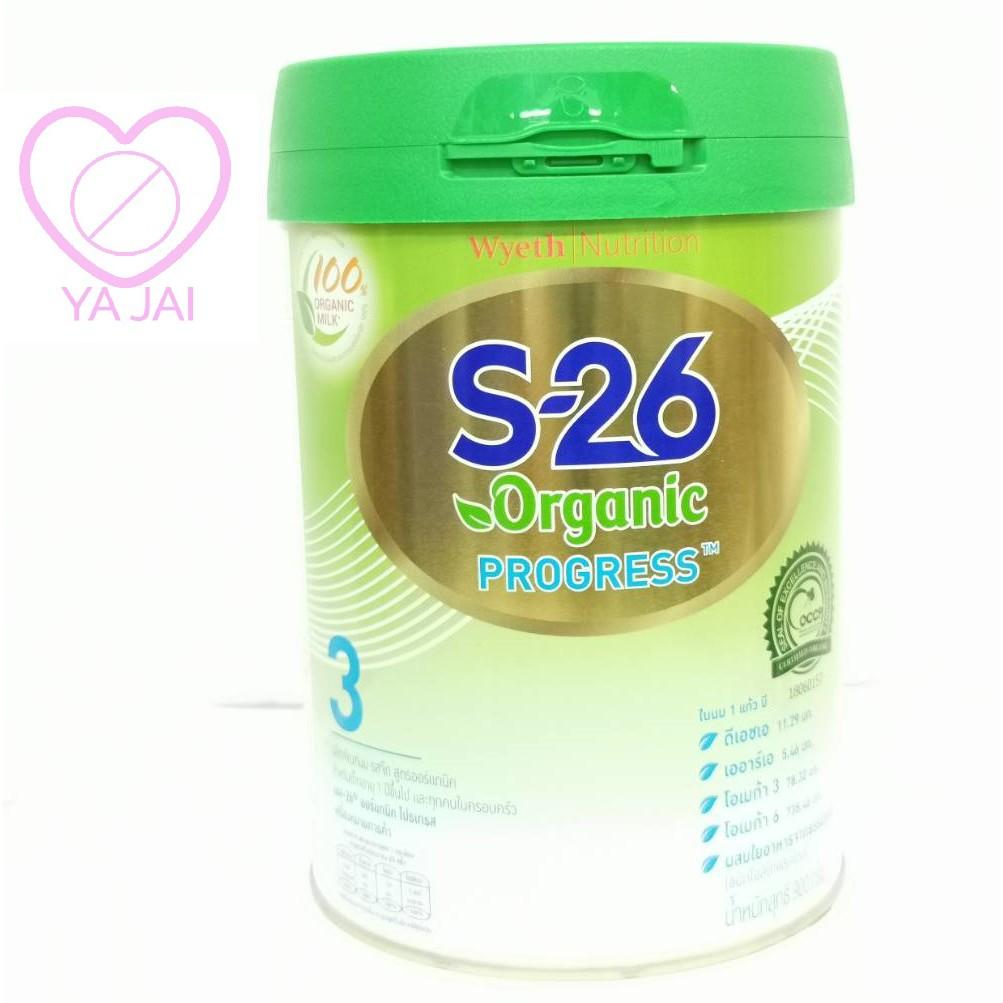 เอส-26 ออร์แกนิคโปรเกรสรสจืด นมผง สูตร 3 สำหรับเด็กอายุ 1 ปีขึ้นไป ขนาด 900 กรัม s-26 organic progress 900 g