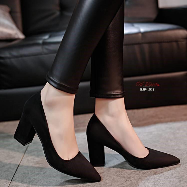 รองเท้าคัชชูหัวแหลมส้นสูงผู้หญิง รองเท้าส้นสูงขายดี  รองเท้าคัชชูส้นสูง สีเทา / สีดำ สีแดง✨!!