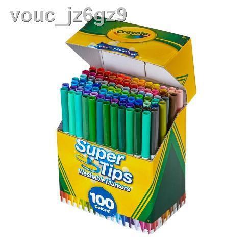【ลดราคา】□Crayola Supertips 100 สี