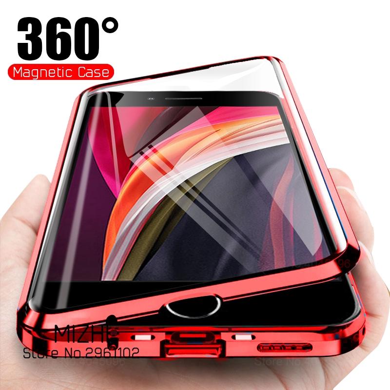 เคสโทรศัพท์มือถือแบบกระจกสองด้านสําหรับ apple iphone 11 pro max x xs xr 8 7 6 plus