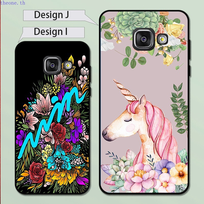 th_Samsung A3 A5 A6 A7 A8 A9 Pro Star Plus 2015 2016 2017 2018 Flower Silicon Case Cover