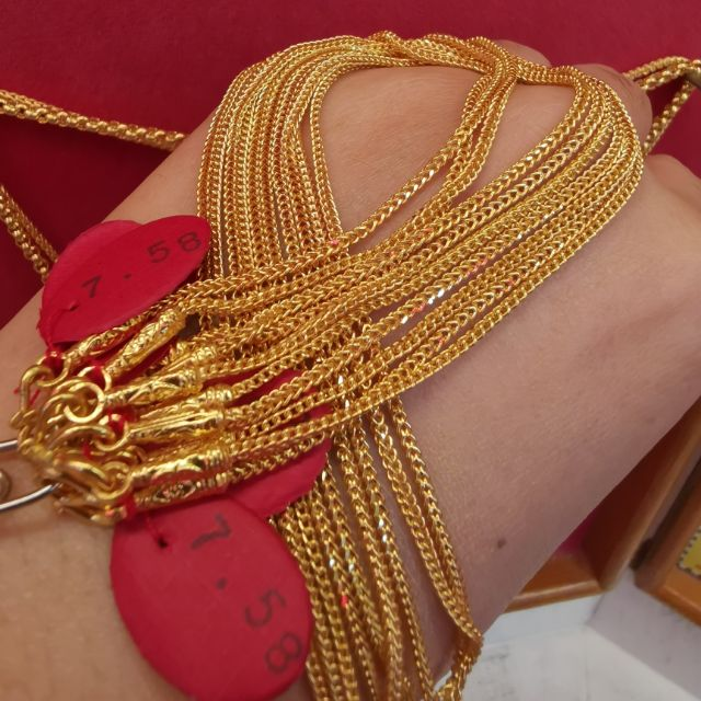  สร้อยคอทอง 96.5%  น้ำหนัก 2 สลึง ยาว 22-26cm ราคา 14,5500บาท
