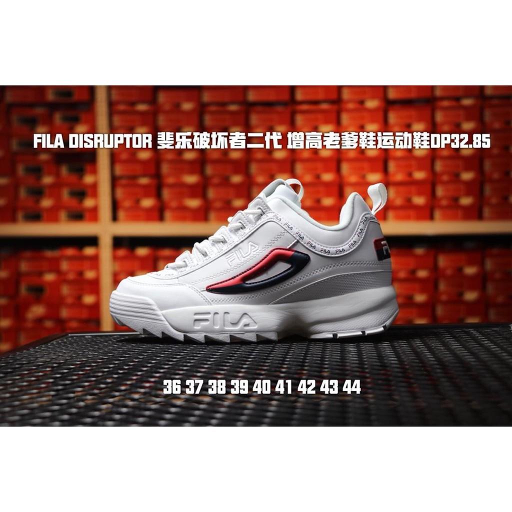 FILA Fila รองเท้าบุรุษ รองเท้าสตรี รองเท้ากีฬา รองเท้าวิ่ง ย้อนยุค รองเท้าเก่า รองเท้าวิ่ง โมเดลคู่