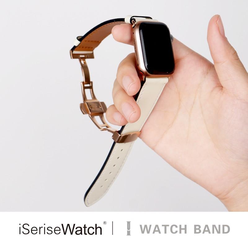 บังคับ Apple Watch รุ่นที่ 5 กีฬาสาย iwatch ผู้ชายและผู้หญิง 3/2/1 รุ่น Applewatch series4 รุ่นหนังม้าบ้าสีน้ำตาลซิลิโคน