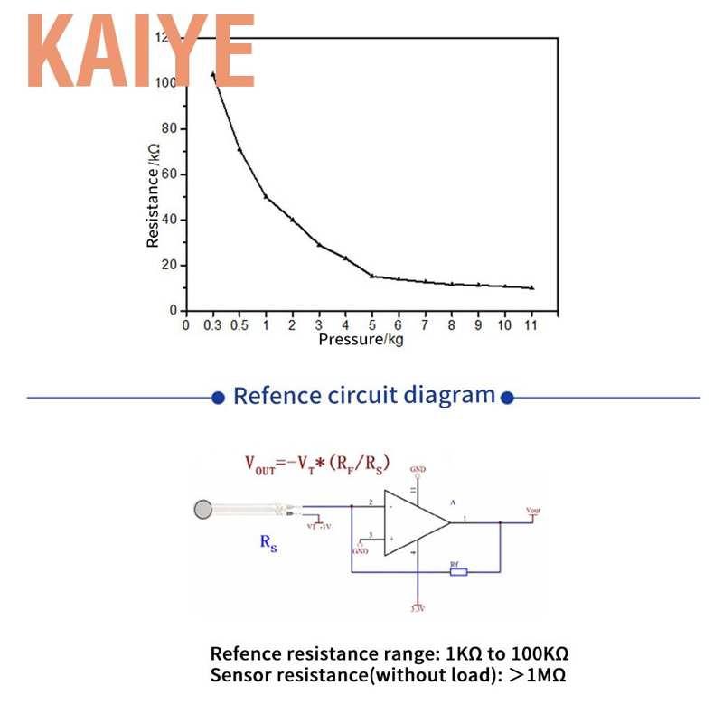 1 Pc DF 9-40 High Precise Force Sensing Resistor Thin Film Force Pressure Sensor 0-20kg