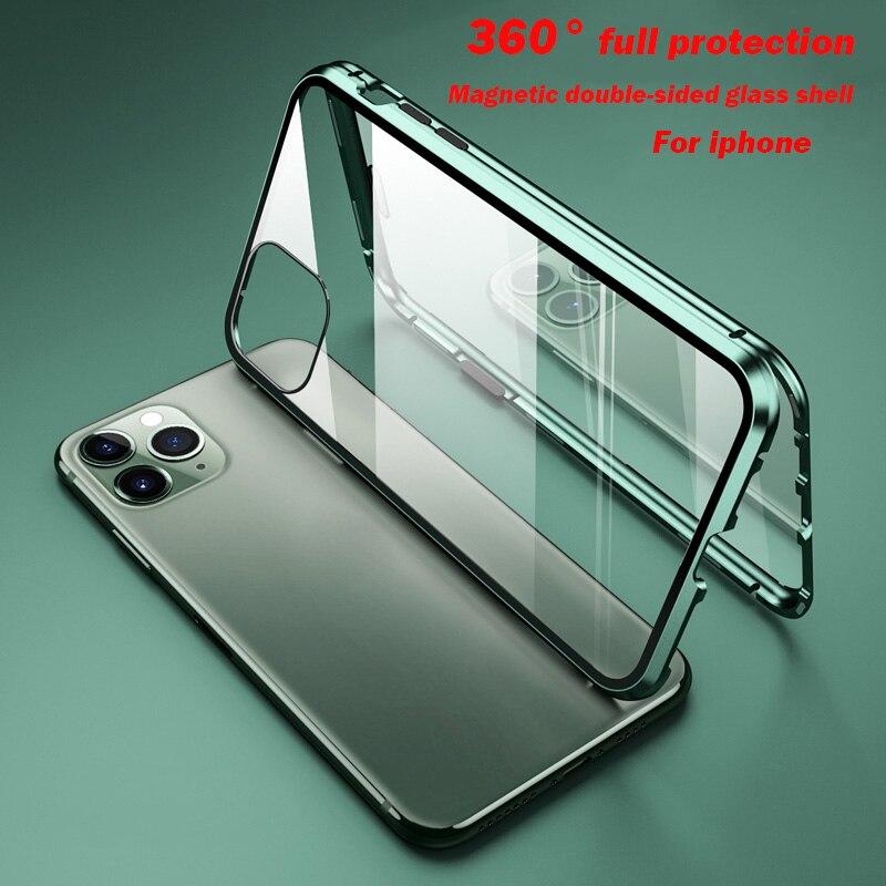 เคสโทรศัพท์มือถือแบบสองด้านสําหรับ Iphone 12 11 Pro Max