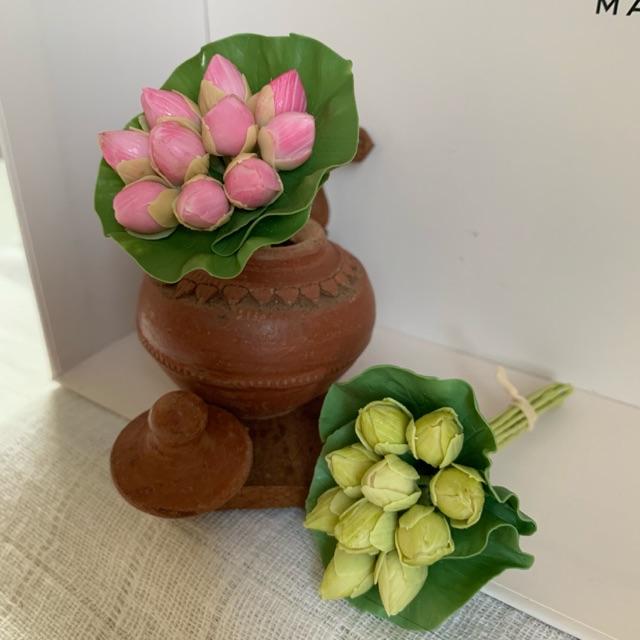 ดอกบัวดินไทยปั้