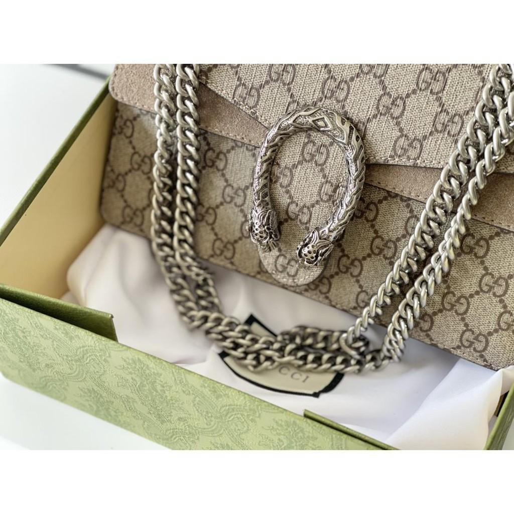 №✻∏Gucci handbags Dionysus new Dionysus bag tiger head buckle shoulder bag messenger chain bag