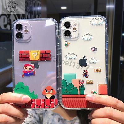 เคสไอโฟน 12 case iphone12 case iPhone 12 Pro /case iPhone 12 Pro Maxการ์ตูนน่ารัก Mario 12pro Apple 11 เคสมือถือ iPhonex