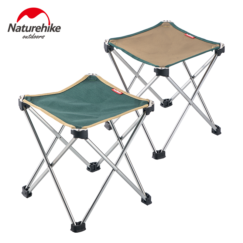 ตกปลา NaturehikeNaturehike Outdoor Portable Folding Stool Mazar Bench Ultralight Aluminum Alloy Fishing ChairCOD