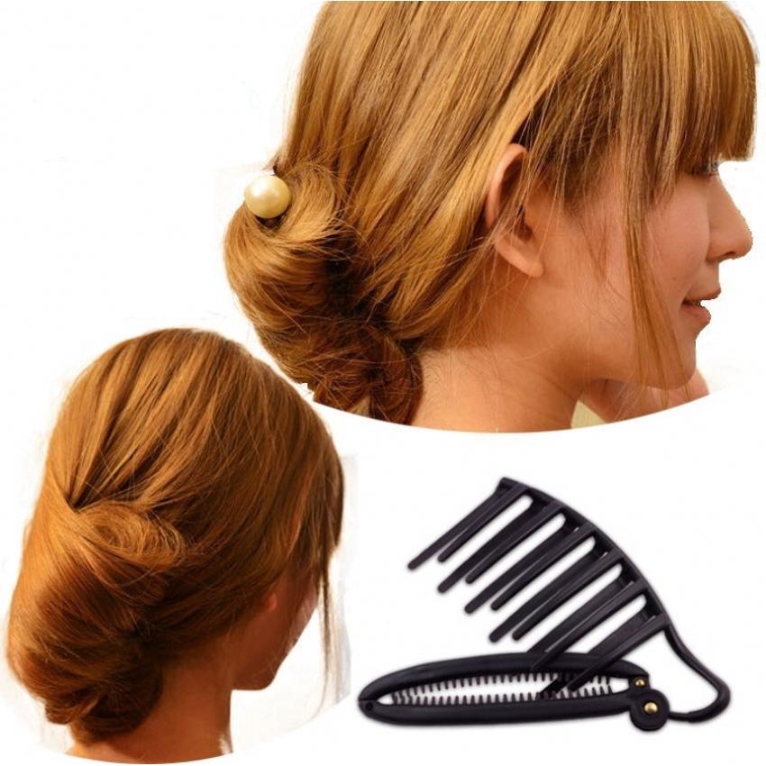 Magic women DIY hair styling updobun.comb clip set for hair french twist makerFL